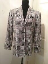 Talbots Women's 100% Wool Career Blazer Jacket Multi Color Size 14   (T024L)