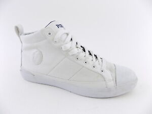 Polo Ralph Lauren CLARKE White Mens Size 11.5D SNEAKERS High Top Shoes
