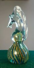 MALTESE GLASS HORSE PAPERWEIGHT