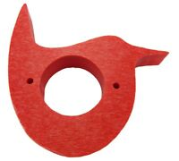 JCs Wildlife Red Recycled Poly Wren Portal Cover / Birdhouse Predator Guard