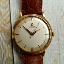 Vintage Omega 9k Solid Gold Cal 501 Automatic Watch