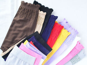 Muslim Women Ladies Islamic Sleeves Gloves Arm Cover Abaya Hijab Stretchy Fabri