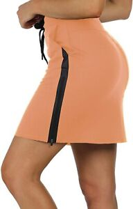 icyzone Women's Athletic Casual Skirts - Stretchy Knitting Summer Skirt with Poc