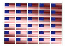 "American Flag Decals Stickers - bulk - 0.6"" tall x 1"" wide"