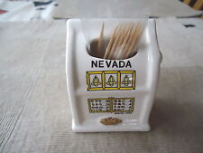 "Vintage Ceramic Nevada Slot Type Of Tooth Pick Holder "" AWESOME COLLECTABLE """