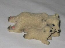 """White 4"""" Mother and Baby Polar Bear Figurine"""