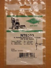 NTE553 ECG553 SK9975 MC301 Silicon Schottky Barrier Pin Diode UHF VHF Switch NEW