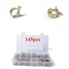 146Pcs 11 Sizes Autos Spring Clip Fuel Oil Water Hose Pipe Tube Clamp Fastener