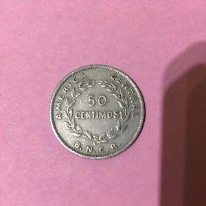 COSTA RICA 50 CENTIMOS 1948   KM 182  FINE+.