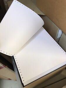 """Endlospapier 250mm x 12"""" 2000 Blatt einfach 70g/qm Druckerpapier Computerpapier"""