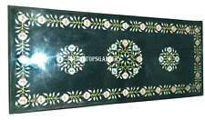 3'x2' Black Marble Dining Table Top Semi Precious Inlay Living Room Decor H933A