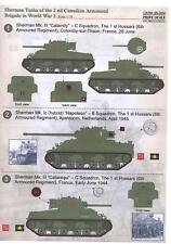 Print Scale Decals 1/35 M4 SHERMAN TANKS OF THE 2ND CANADIAN ARMOURED BRIGADE
