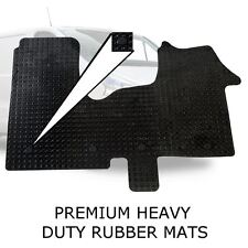 Tailored Rubber Van Floor Mats HDuty Set +Clips for Vauxhall Vivaro 2014 onwards