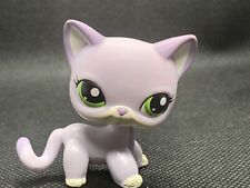 Littlest Pet Shop LPS Authentic 2094 Shorthair Purple Lavender Kitty Cat Green