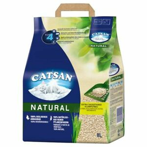 Catsan 100% Natural Extra Absorbent Clumping Litter Plant Fibres Soft, 8l, 20l