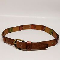 Fossil Genuine Leather Women's Small Segmented Brown Red & Green Belt UNIQUE