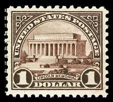 Scott 571 1923 $1.00 Lincoln Perf 11 Flat Plate Issue Mint VF OG LH Cat $35