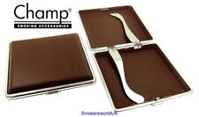 Cigarette Case -- Champ Plastic Brown Crocodile Print 20 King Size -- NEW chks36