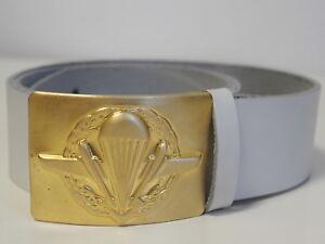 Original Russian Soldier Leather Belt Soldier w/ Badge Parachute Airborne