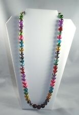 BEAUTIFUL CZECH CRYSTAL FOIL BEAD NECKLACE....26 INCHES....NEW...59 BEADS