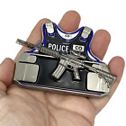 DL1-04 Correctional Officer M4 Body Armor 3D self standing Challenge Coin Correc