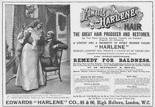 HARLENE Hair Producer & Restorer - Victorian Advert 1897