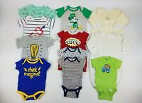 Disney Gerber Baby Boys Size 0-3m Clothes Bodysuits Romper Sleeper Gown Lot EUC