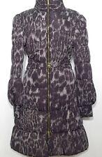 ROBERTO CAVALLI Stepp Mantel Winter Coat braun grau Leo Gr. 42 XL NEU! UVP 754€!