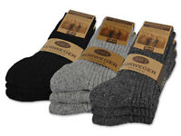 6 Paar Norweger Socken Wollsocken Wintersocken Herren Damen Schwarz Grau