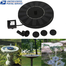 Outdoor Solar Powered Bird Bath Water Fountain Pump For Pool Garden Aquarium Usa