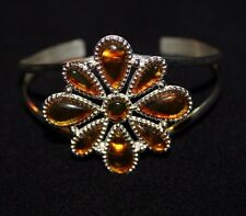 Jay King Baltic Amber Blossom Sterling Silver Cuff Bracelet