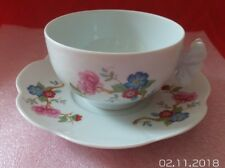 LIMOGES FRENCH PORCELAINE DUPUIS 1797 ROYAL LIMOGES JUMBO CUP & SAUCER