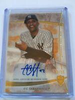 2014 Topps Supreme Baseball CC Sabathia SP Auto 02/15 *Yankees*