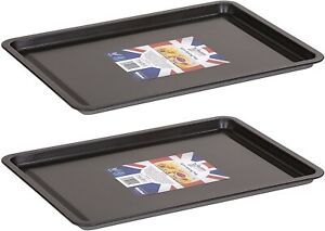 2x Wham Non-Stick Baking Cooking Oven Sheet Roasting Dish Tray - 32cm