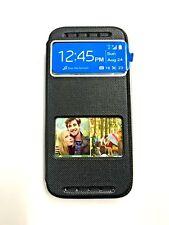 HTC® Desire 610 Black Flip Leather Case Cover View Window Sliding Smart Answer