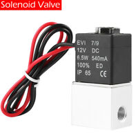 """US 12V 1/4"""" 2 Way Normally Closed Pneumatic Aluminum Electric Solenoid Air Valve"""