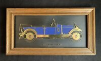 Vintage 1927 Rolls Royce 20 Wooden Framed Wall Hanging by Hugh Evelyn Limited