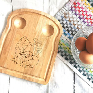 Personalised Breakfast Egg Board Bacon and Egg Design fun novelty couples gift