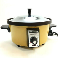 Vintage Panasonic Tempura Fondue COOKER NF-851E HARVEST GOLD YELLOW 1960 1970