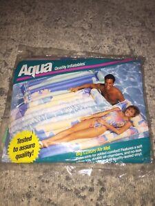 Vintage Aqua Leisure Quality Big Luxury 1993 Quality Inflatables Air Mat 72x30