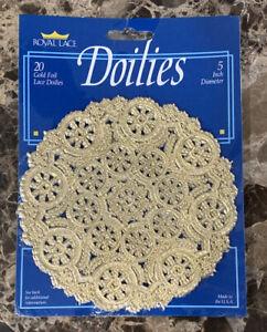 Royal Lace Gold Foil Doilies 5 inch