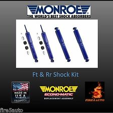 Monro-Matic Plus Front & Rear shocks Chevy/GMC  32350 32345 MONROE LIFETIME WARR