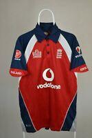 Admiral England Cricket Shirt Jersey One day Vodafone 3 lions Mens M MEDIUM RARE
