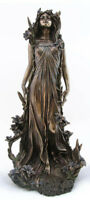 Jugendstil Frauenfigur nach Alfons Mucha Nymphenskulptur signiert Veronese neu
