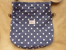 Cath Kidston Blue and White Spot Cotton Canvas Shoulder bag