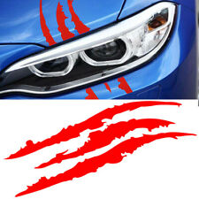 Universal Red Car Headlight Scratch Stripe Claw Stripe Slash Decal Sticker