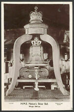Postcard. Royal Navy. HMS Nelson's Silver Bell. RPPC by Wright & Logan