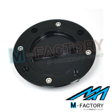 Billet Black S8 Keyless Fuel Gas Cap Fit Suzuki RF 900R GSX1400 TL1000S SV650