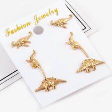 Ear Stud Dinosaur Earrings Set 3 Pairs Tyrannosaurus Diplodocus Fashion Women