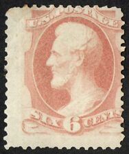 "US Sc# 186 *MINT OG H* { 6c LINCOLN } 1879 SOFT POROUS PAPER ""SCARCE CV$ 900.00"